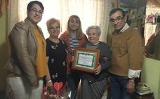 San Andrés homenajea a la centenaria María Labrador