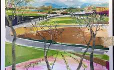 Vicente Soto gana el Premio de Pintura Rápida y Enoturismo de la DO Tierra de León
