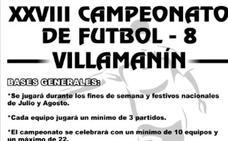 El fútbol 8 'invade' Villamanín en verano