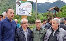 Villablino inaugura el parque en honor a la figura del sindicalista Benjamín Rubio