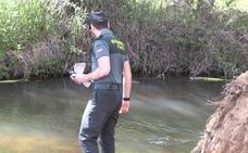 Medios aéreos, acuáticos y terrestes intensifican la búsqueda del desaparecido en Castrillo del Porma