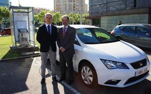 Nedgia Castilla y León y el Eren ponen en servicio en la capital leonesa la primera estación de carga de gas natural para vehículos de uso interno
