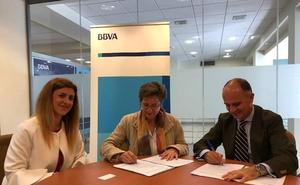 La Asociación Leonesa de Comercio Electrónico y BBVA firman un convenio de colaboración financiera