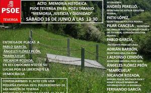 El PSOE de León interviene en el homenaje a los represaliados en el pozo Tárano de Asturias