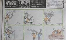 Trabajos de 3º de Primaria en la modalidad de cómic del II Concurso de Dibujo y Cómic 'La vida del campo'