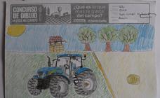 Trabajos de 6º de Primaria en la modalidad de dibujo del II Concurso de Dibujo y Cómic 'La vida del campo'