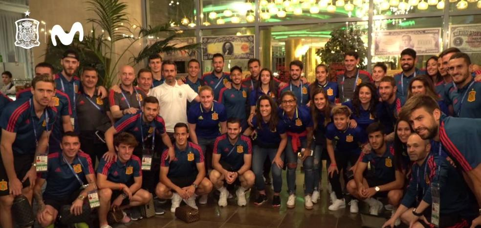 La selección femenina apoyará a los de Hierro en Kazan