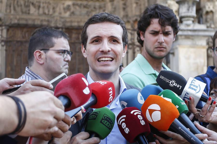 Pablo Casado visita León
