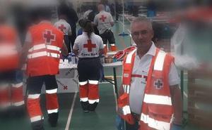 Un voluntario leonés colabora con el equipo de respuesta en Cheste para dar apoyo los inmigrantes del Aquarius
