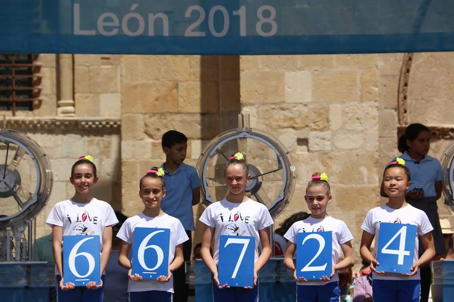 Sorteo de la Lotería Nacional en León