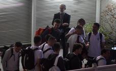 La selección llegó a Madrid