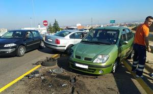 La colisión entre dos vehículos en el Alto del Portillo se salda con cinco heridos, tres adultos y dos menores
