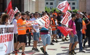 Los trabajadores de Vestas cruzan León y piden «la fuerza de la calle y los políticos» antes de la huelga indefinida