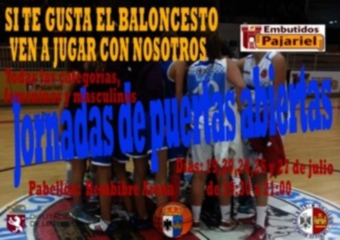 Cartel del Club Baloncesto Bembibre./