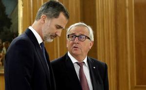 Juncker reivindica a Juan Carlos I y avisa contra nacionalismo y populismo: «Llevan a la ceguera y a la guerra»