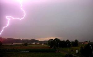 Las tormentas de este viernes dejan un rastro de 201 rayos en la provincia de León