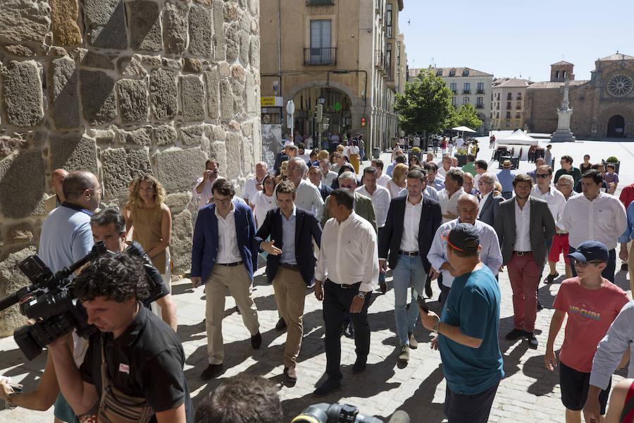 Pablo Casado visita Ávila y preside la junta Directiva del PP de Ávila