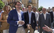 Pablo Casado refrenda a Mañueco al frente del PPCyL y le califica como «el mejor candidato posible para Castilla y León»