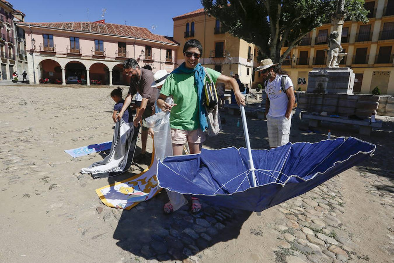 Concentración en la 'Playa del Grano'