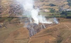 Extinguido el incendio declarado en Villamañán tras calcinar 4,5 hectáreas de cereal y barbecho