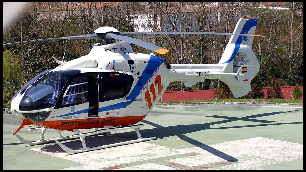 Trasladado en helicóptero al Hospital del Bierzo un buzo que sufrió un accidente laboral en una cantera de Rubiá