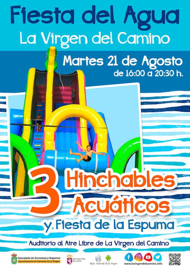 La Fiesta del Agua llega a La Virgen del Camino el 21 de agosto