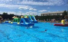 Las piscinas de Villaquilambre mejoran sus instalaciones con 1000 nuevos metros cuadrados de césped