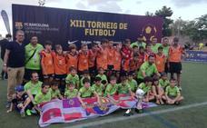 La Peña Leonesa FC Barcelona, vencedora del Joan Gamper alevín