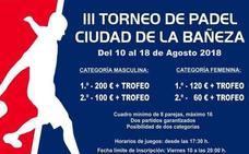 El Ayuntamiento de La Bañeza iguala los premios del torneo de pádel tras un «error de imprenta»
