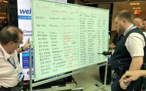 Un fallo obliga al aeropuerto de Gatwick a anunciar los vuelos en pizarras