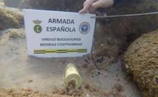 La Armada desactiva un proyectil de la Guerra Civil en las costas de Barcelona