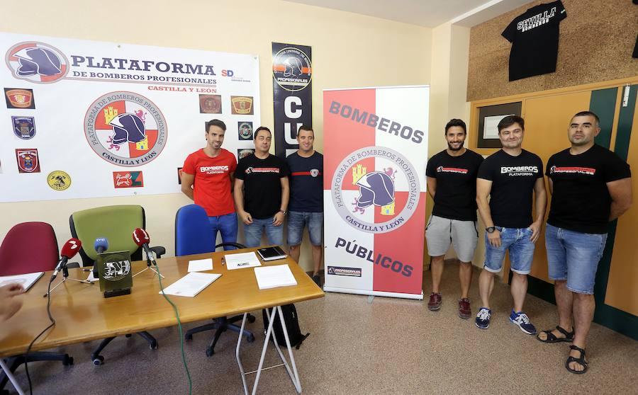 La Plataforma de Bomberos Profesionales de Castilla y León ofrece una rueda de prensa