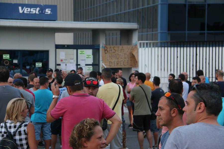 Movilizaciones de los trabajadores de Vestas