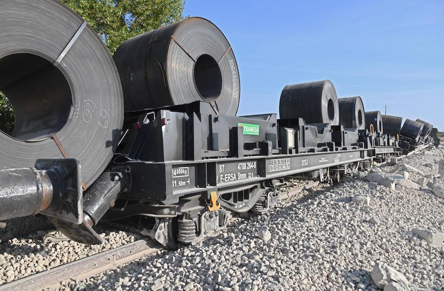 Descarrila un tren en Burgos