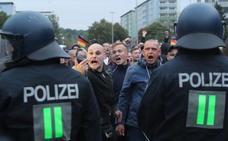 La ultraderecha alemana vuelve a exhibir su fuerza en una manifestación en Chemnitz