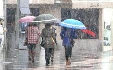 Aviso por lluvias intensas durante la jornada de miércoles en gran parte de la provincia de León