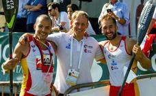 José Luis Becerro roza el podio en el K-2 del Mundial de Piragüismo de Portugal
