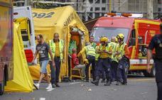 Un trabajador muerto y 11 heridos tras «colapsar» cinco plantas en las obras del hotel Ritz en Madrid