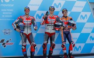 Lorenzo se impone en el tridente de MotoGP