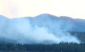 Extinguido el incendio de Molinaseca tras calcinar 2,5 hectáreas de pinar y matorral