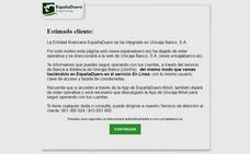 EspañaDuero desaparece de Internet y cede el testigo a Unicaja Banco
