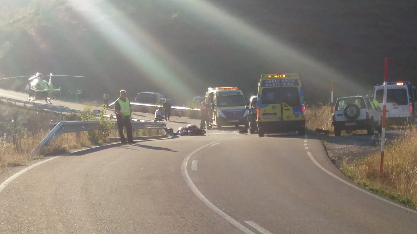 Grave accidente en la collada de Cármenes