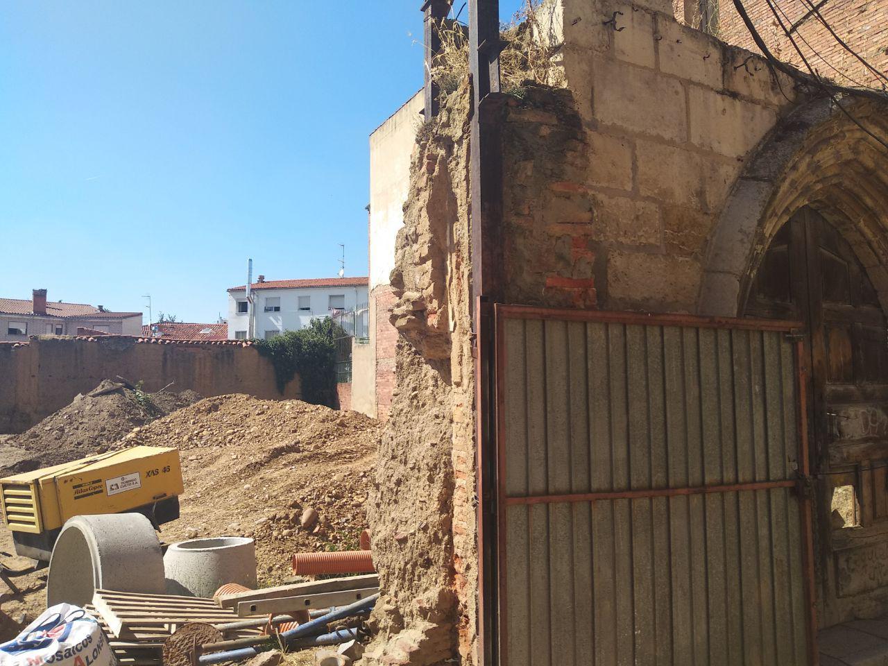 Estado de los restos de los Principia en León