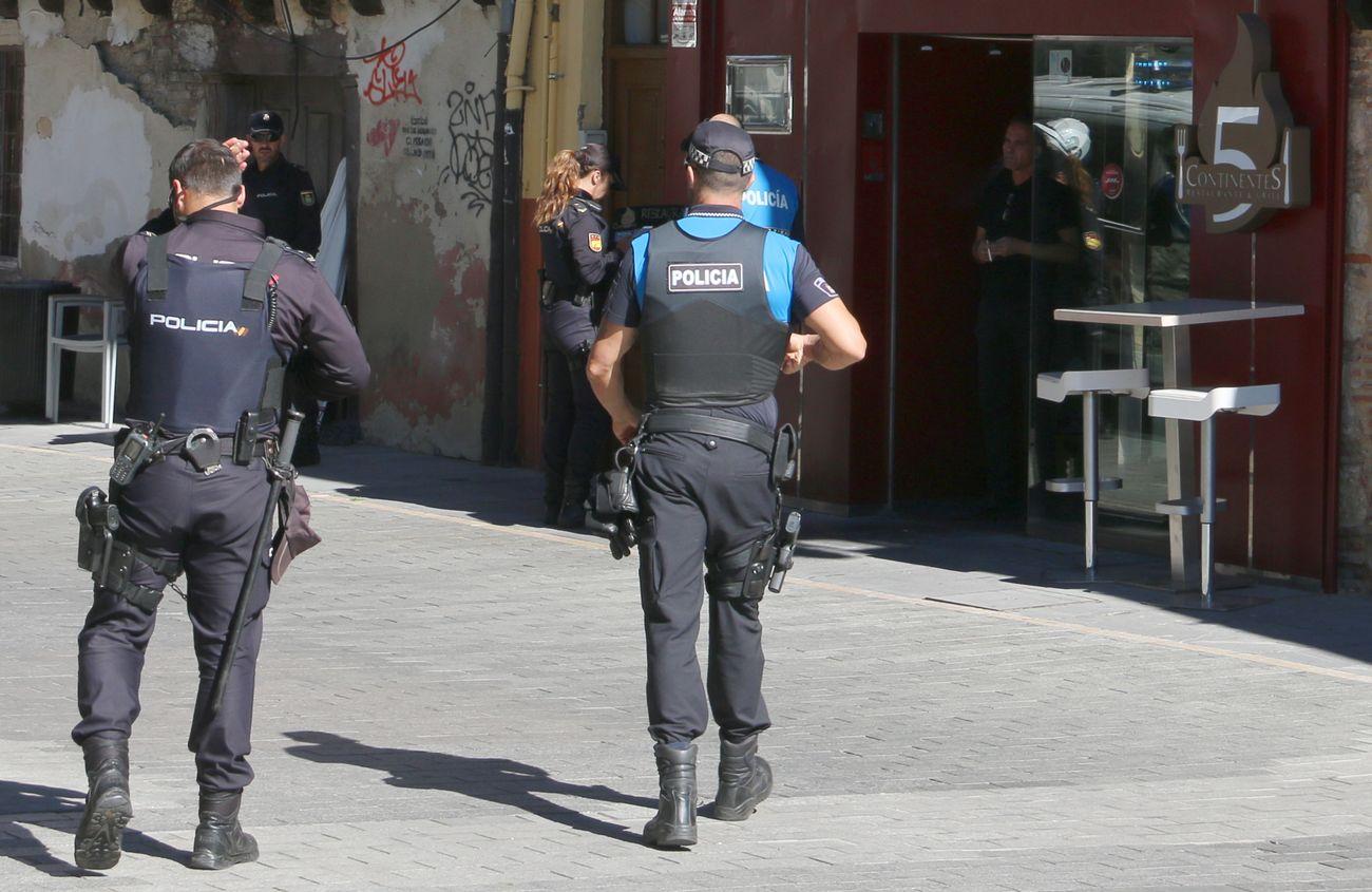 Intervención policial en León