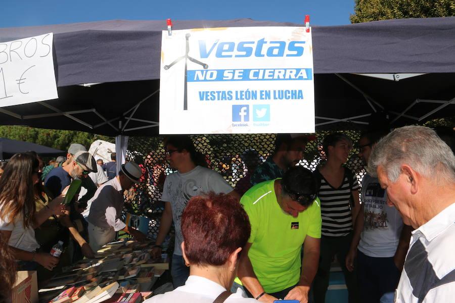 Los trabajadores de Vestas aprovechan San Froilán para reivindicar su actual situación laboral