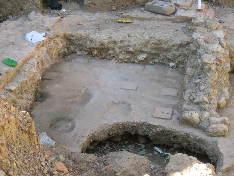 Últimos trabajos antes de cubrir los restos romanos
