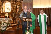 Misa cetrera en el Santuario de La Virgen del Camino