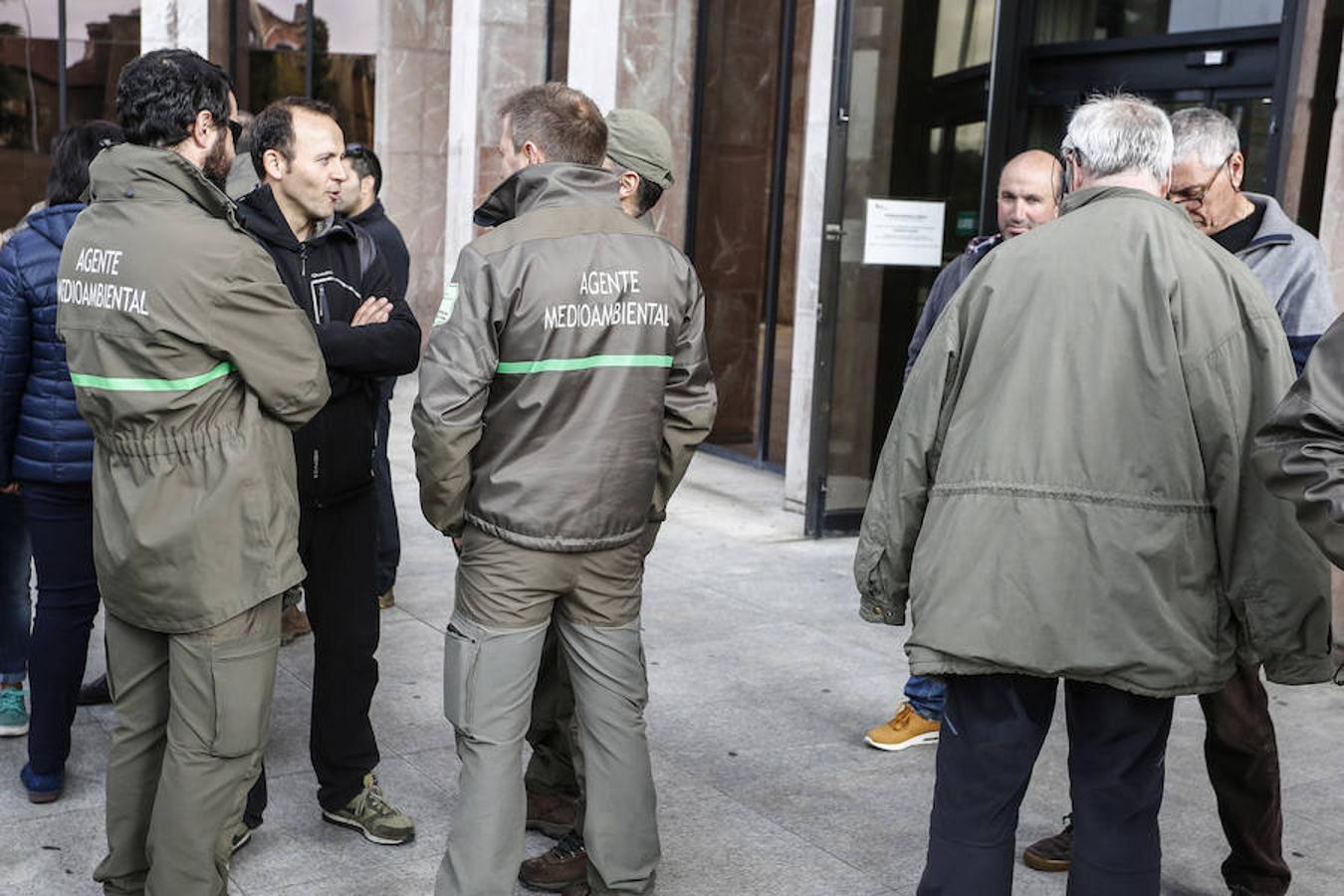 Concentración de agentes forestales en León