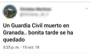 Despedido en Avilés por celebrar la muerte del guardia civil en Granada