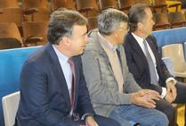 El presidente de Abanca, Juan Carlos Escotet, visita al Abanca Ademar